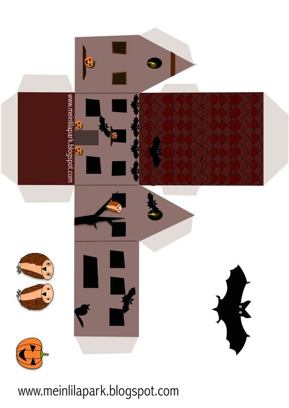 Mini casita en forma de casa para Halloween.