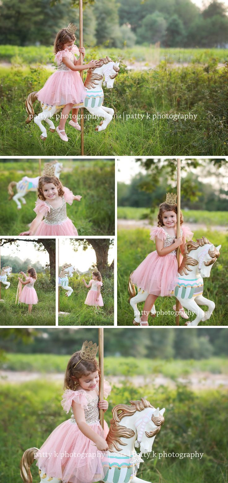 Carousel Horse Minis | Imagination Session | Ella & Kailyn | Raeford, NC Child Photographer | Patty K Photography
