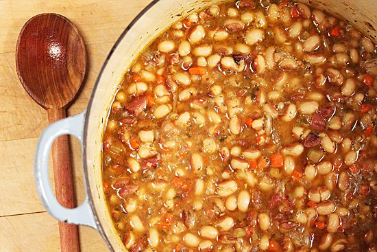 Rancho Gordo Yellow Eye Bean Soup