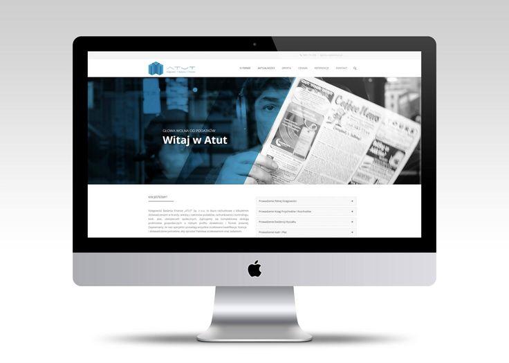 Strona internetowa dla biura rachunkowego KBF ATUT.  #webdesign #website #userinterface #minimalism #layout #www #stronywww #stronyinternetowe