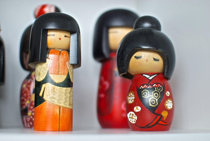 Kokeshi dolls by George Nakamura
