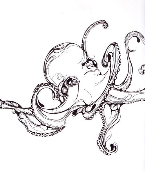 Line Drawing Tattoo London : Best images about illustration sea creatures on