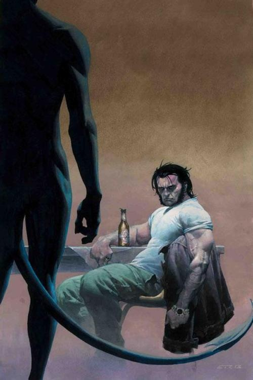 "Wolverine and Nightcrawler cover for Wolverine #6 by Greg Rucka.  ""And nobody at Marvel noticed!"""