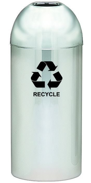 Dome Top 15-Gal Monarch Series Open Top Industrial Recycling Bin