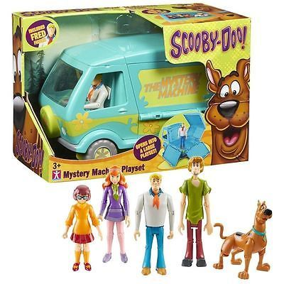 Scooby-Doo 11747: New Scooby Doo Deluxe Mystery Machine And 5 Figure Solving Crew Playset -> BUY IT NOW ONLY: $39.33 on eBay!