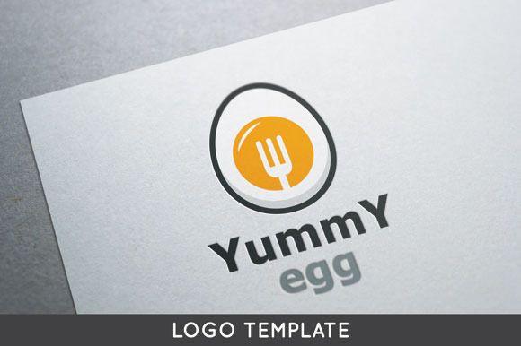 Yummy Egg Logo by Bevouliin Design on Creative Market