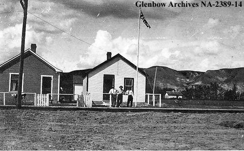 c1915  Royal North-West mounted police, Drumheller, Alberta