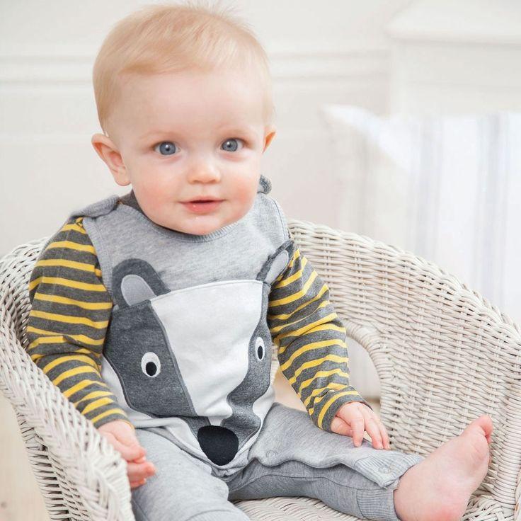Badger Baby Overalls Set   JoJo Maman Bebe