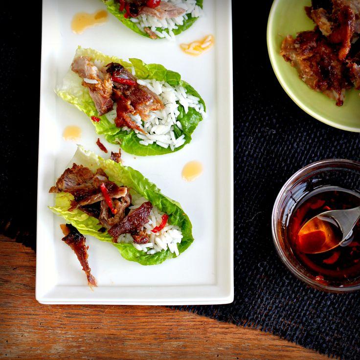 Momofuku Bo Ssam – Lacquered Pork in Lettuce Leaves