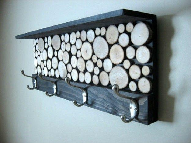 Erstaunlich  Erstaunlich  Großartig  Großartig Holzscheibe Garderobe | Awesome…