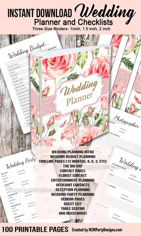 Wedding Planner, Printable Wedding Planner, Wedding Binder