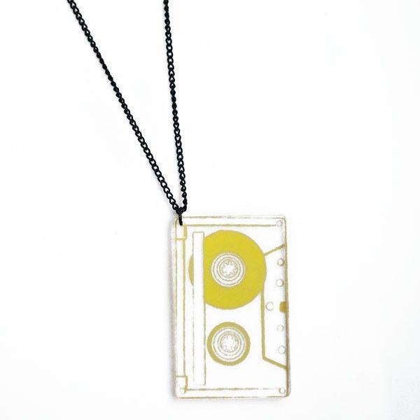 Corrente - Fita Cassete - Amarelo Transparente