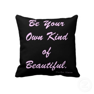 Marilyn Monroe quote pillow