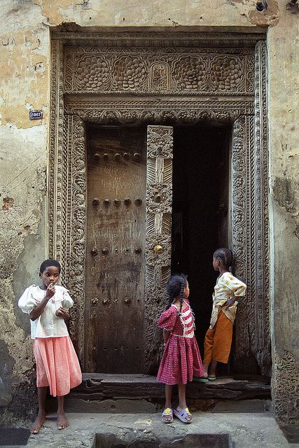 the historic doors in Stone Town, Zanzibar are beautiful