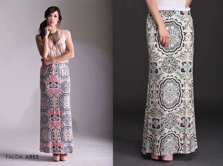 Recibí la primavera con la Falda Ares. Elegante y sumamente femenina, su estampado estilo mosaico la convierte en protagonista de tus looks. #NuevaColección #Faldas #Tendencias