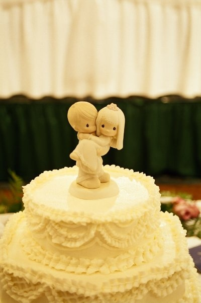 This Is My Wedding Cake Topper I Painted It To Look Like Us Precious Moments