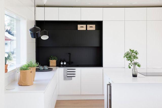 Markki -scandinavian black and white kitchen made by Lube