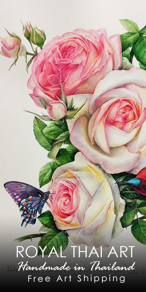 Find beautiful pink rose flowers paintings for sale online, hand