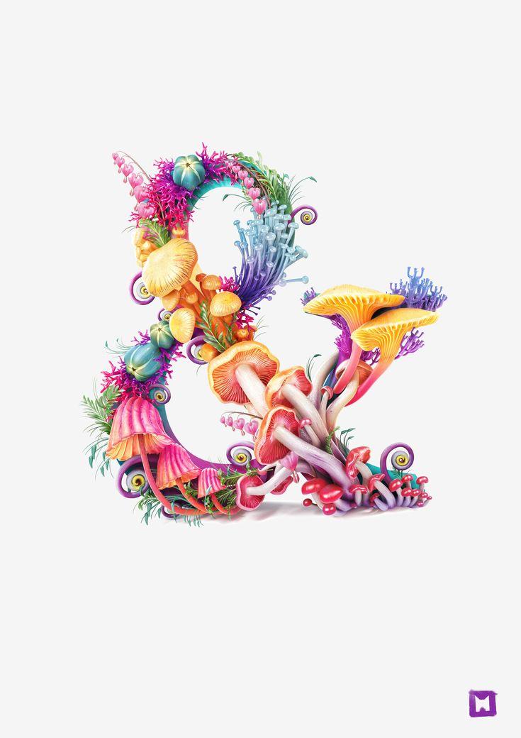 Mushrooms ampersand by Melaamory.deviantart.com on @deviantART