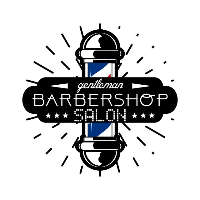 Barbershop Retro Barber Hipster Vintage Hair Shop Salon Hairdresser Chair Haircut Hairstyle Man Stylish Beard Logo Design Flat Logo Design Logo Design Template