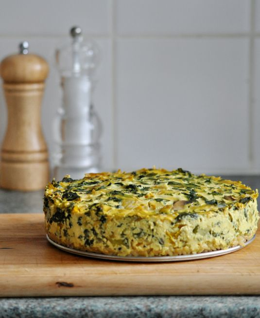 The Incredible Vegan Frittata!: use 1/4 cup egg substitute, use soy milk or FF dairy milk, use olive oil = 3/4 tsp. healthy oil per serving of 1/4 recipe. Use nonstick olive oil-flavored spray (or part of the oil in the recipe) to grease springform pan and to cook onions. For SFT, counting for ONLY nutritional yeast and arrowroot = 1 P+ per serving of 1/4 recipe.