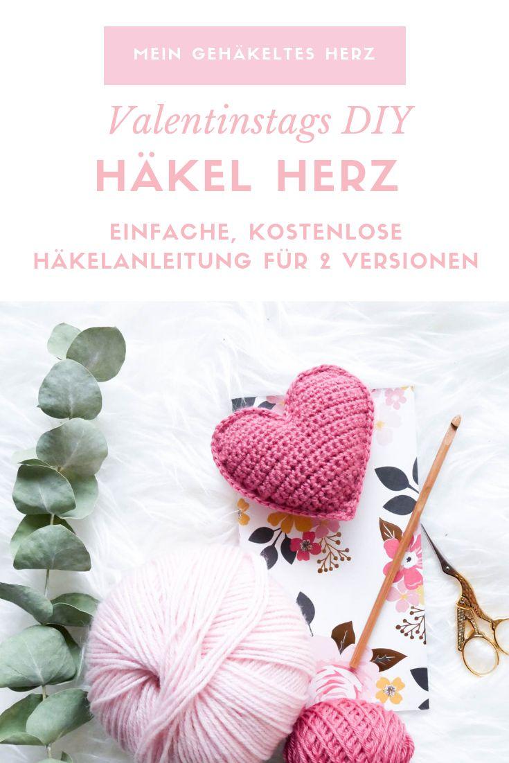 Einfache Herzen häkeln- ein schnelles last-Minute Valentinstags DIY