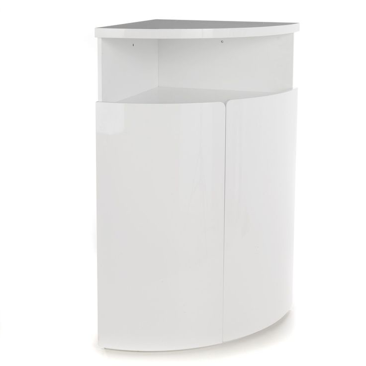 buffet d 39 angle haut blanc laqu new corner. Black Bedroom Furniture Sets. Home Design Ideas