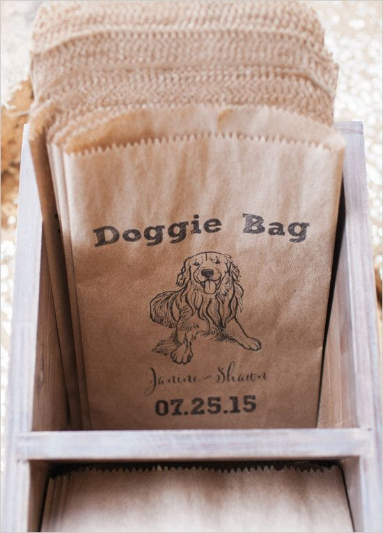 #doggiebag #treatbag @weddingchicks