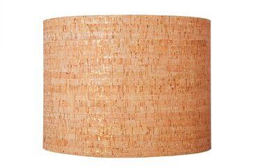For the living room with Ikea Astorp lamp base - Metallic Cork Lampshade contemporary-lamp-shades