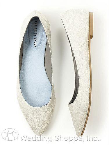 Shoes Dessy Lace Bridal Ballet Flat Wedding Shoes