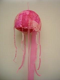 Paper mache jelly fish