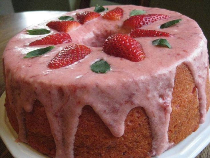 Strawberry Pound Cake! ~ cooking Of all time