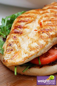 Grilled Mexican Chicken Burger. #HealthyRecipes #DietRecipes #WeightLossRecipes weightloss.com.au