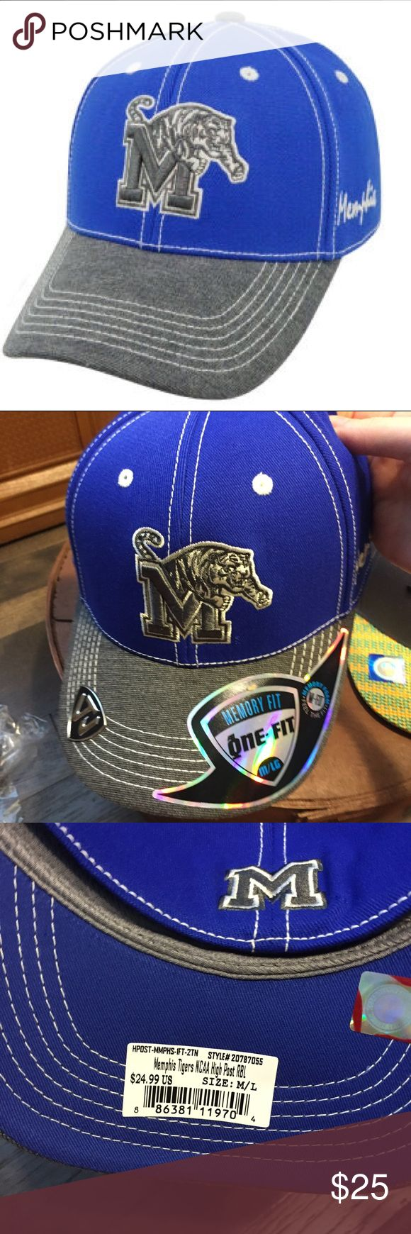 🆕 Memphis Tigers High Post Memory Fit Hat NWT M/L Brand new with tags! NCAA NCAA Accessories Hats