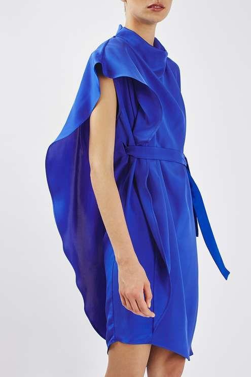 80s Asymmetrical Drape Dress