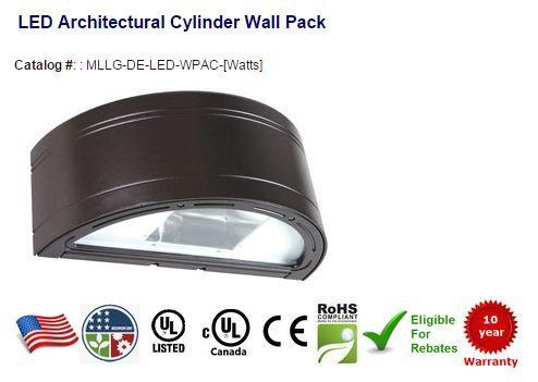 Dark bronze housing color | Fully gasketed lens assembly seals out external contaminants | Uplight / Downlight Options | Photocell, Motion Sensor, Emergency Backup | #LED #ledlightings