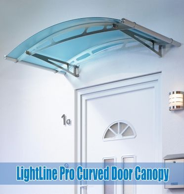 Stainless steel or White Curved door canopies with clear frosted white frosted blue or & 33 best Door Canopies images on Pinterest | Canopies Door canopy ...