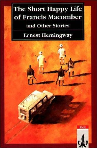 The Short Happy Life of Francis Macomber by Ernest Hemingway. I've written 4 papers on this short story, each with different theses. It's my baby.