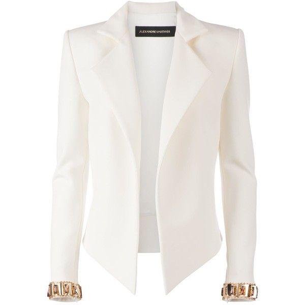ALEXANDRE VAUTHIER embellished cuff blazer found on Polyvore