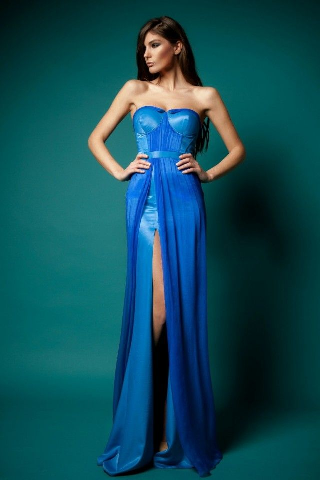 Latex evening dress