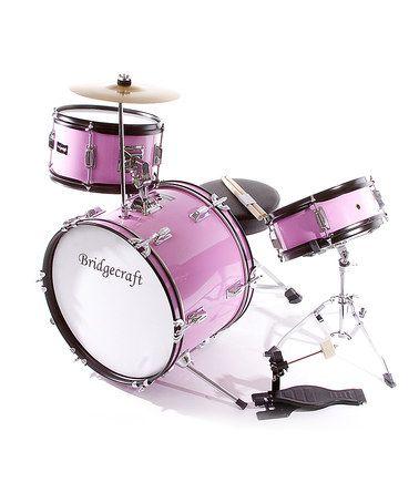 Look at this #zulilyfind! Pink De Rosa Three-Piece Kid's Drum Set #zulilyfinds