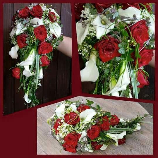 Rote Rosen – weiße Lilien   – Hochzeit in rot & weiß