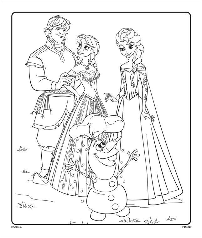 Frozen Movie Fans Can Color Frozen Characters Like Anna Elsa Olaf Kristoff On This Froze Elsa Coloring Pages Frozen Coloring Pages Princess Coloring Pages