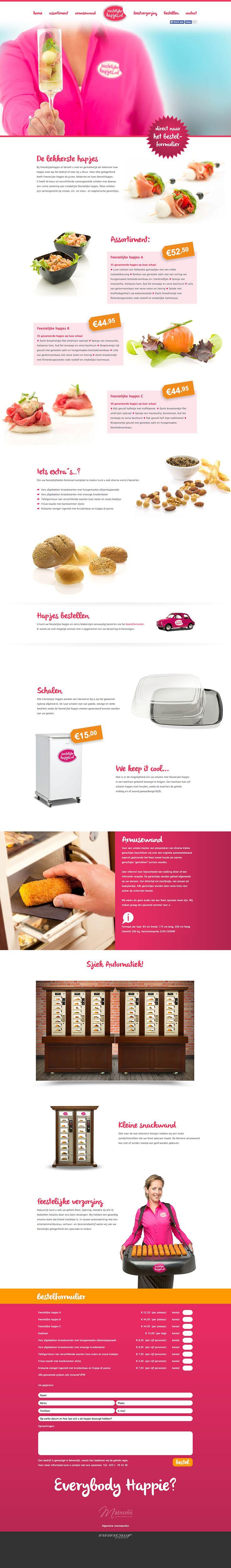 Website Design voor FeestelijkeHapjes.nl  Bij Feestelijkehapjes.nl bestelt u snel en gemakkelijk de lekkerste luxe hapjes voor op het bedrijf of voor bij u thuis.