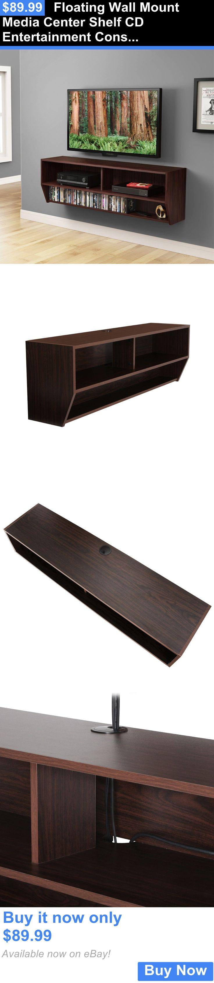 1000 ideas about floating media shelf on pinterest. Black Bedroom Furniture Sets. Home Design Ideas