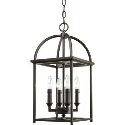 Progress Lighting Piedmont Collection 4-Light Antique Bronze Foyer Pendant-P3884-20 - The Home Depot