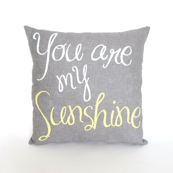you are my sunshine pillow <3