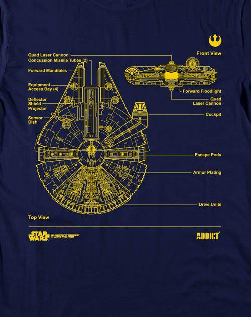 star wars blueprints shirts geek 39 o 39 rama pinterest. Black Bedroom Furniture Sets. Home Design Ideas
