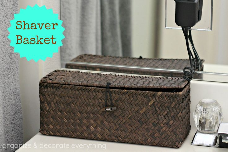Shaver Basket for Bathroom Counter