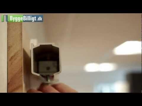 Montering af skydedør på rulleskinne - YouTube